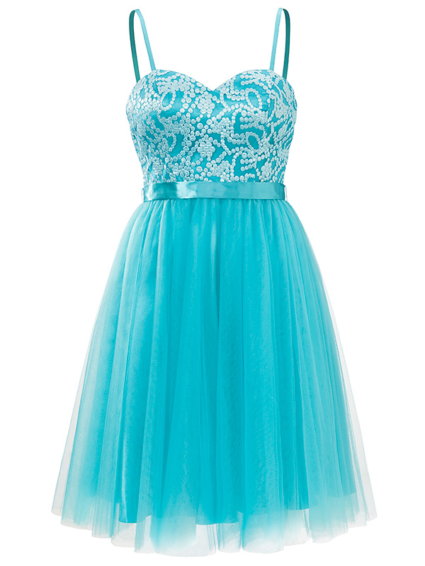 Strapples cocktail jurk