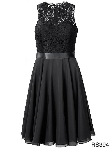 coctail jurk, kort, chiffon, kant, abitur, schoolfeest